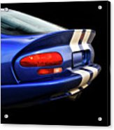 1995 Dodge Viper Coupe 'tail' Acrylic Print
