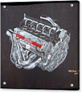 1996 Ferrari F1 V10 Engine Acrylic Print