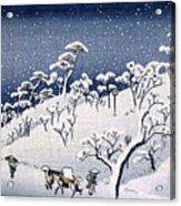 19th C. Snow On Asuka Hill Acrylic Print