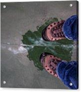 Standing On Thin Ice 2 Acrylic Print