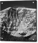 1m3769 Bw East Face Mt Kitchner Acrylic Print