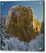 1m6576-winter On El Capitan In 1970 Acrylic Print