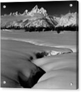 1m9303 Bwtetons Seen From Jackson Hole Acrylic Print