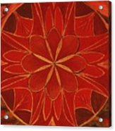 1st Mandala - Root Chakra Acrylic Print
