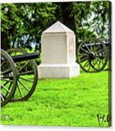 1st Mass Battery Gettysburg National Cemetery Acrylic Print