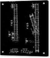 1875 Electric Railway Signal Patent Drawing Acrylic Print