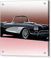 1958 Corvette 'retro' Convertible Acrylic Print