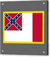 3d Confederate Flag Acrylic Print