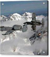 A-10 Thunderbolt IIs Fly Acrylic Print