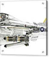 A-6e Intruder Caricature Acrylic Print