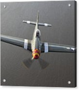 A North American P-51 Mustang In Flight Acrylic Print
