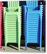 A Rainbow Of Chairs Acrylic Print