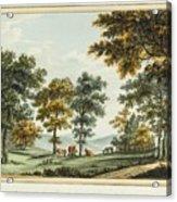 A Scene In The Garden At Brandsbury Acrylic Print