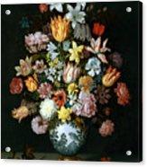 A Still Life Of Flowers Acrylic Print
