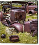 Abandoned Cars, Bodie Ghost Town Acrylic Print