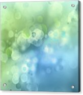 Abstract Blue Green Circles 3 Acrylic Print