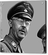 Adolf Hitler And Gestapo Head Heinrich Himmler Watching Parade Of Nazi Stormtroopers 1940-2015 Acrylic Print