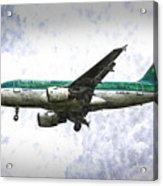Aer Lingus Airbus A319 Art Acrylic Print