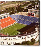 Aerial View Of A Stadium, Soldier Acrylic Print