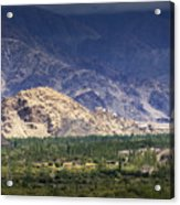 Aerial View Of Leh City Landscape Ladakh Jammu And Kashmir India Acrylic Print