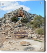 Agioi Saranta Cave Church - Cyprus Acrylic Print
