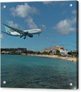 Air Caraibes Landing At St. Maarten Acrylic Print