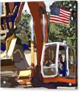 American Tractor Acrylic Print by Brad Burns