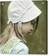 Amish Child Acrylic Print by Stephanie Frey