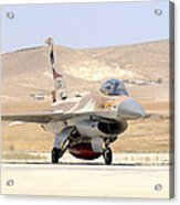 An Israeli Air Force F-16a Netz Taxiing Acrylic Print