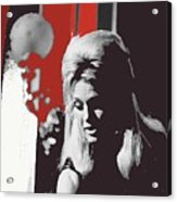 Angie Dickinson On Stage Number 2 Young Billy Young Set Old Tucson Arizona 1968-2013 Acrylic Print