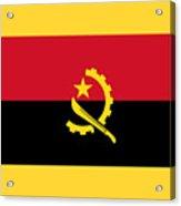 Angola Flag Acrylic Print