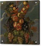 Anthropomorphic Allegory Of Autumn Acrylic Print