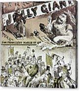 Anti-immigrant Cartoon Acrylic Print