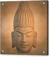 antique oil effect Buddha Burmese.. Acrylic Print