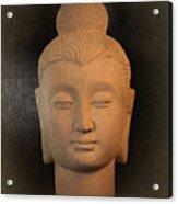 antique oil effect Buddha Gandhara.. Acrylic Print