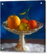 Apple, Lemon And Mandarins. Valencia. Spain Acrylic Print