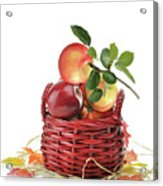 Apples In A Basket  Acrylic Print