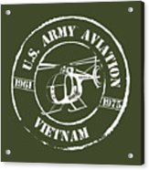 Army Aviation Vietnam Acrylic Print