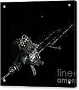 Asteroid Mining Outpost Acrylic Print