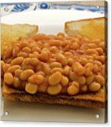 Baked Beans On Toast Acrylic Print
