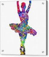 Ballet Dancer-colorful Acrylic Print