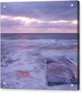Ballyconnigar Strand At Dawn Acrylic Print