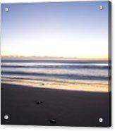 Ballynaclash Beach At Dawn Acrylic Print