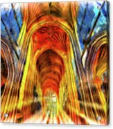 Bath Abbey Sun Rays Art Acrylic Print