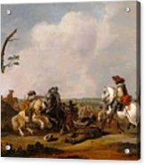 Battle Scene Acrylic Print