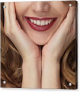 Beautiful Young Smiling Woman Acrylic Print