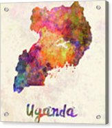 New Hampshire Us State In Watercolor Text Cut Out Acrylic Print