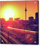 Berlin - Sunset Skyline Acrylic Print