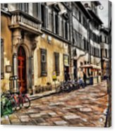 Bicycles In Florence Acrylic Print