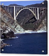 Bixby Creek Aka Rainbow Bridge Bridge Big Sur Photo  Acrylic Print